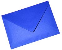 blue letter envelope