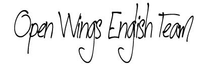 Open Wings English signature